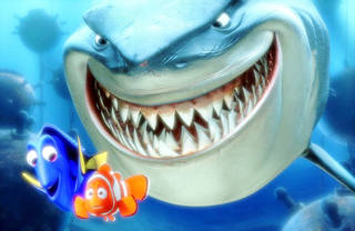 """FILE - In this promotional photo released by Disney Pixar Animation, Dory, lower left, and Marlin, lower right, face an ocean full of perils in their efforts to rescue Nemo in this scene from Pixar Animation Studios :Finding Nemo."""" The Walt Disney Studios has announced limited theatrical engagements for four of its classic films for the first time in 3D. """"Beauty and the Beast,"""" """" Finding Nemo,"""" """"Monsters Inc.,"""" and """"The Little mermaid,"""" will be re-released in 3D in 2012-2013. (AP Photo/Pixar Animation Studios, File) ORG XMIT: NYET324"""