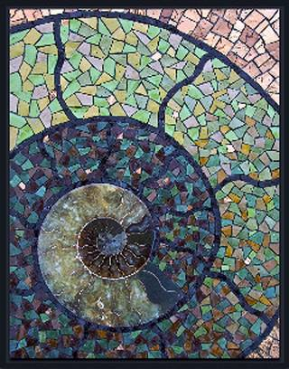 """""""Take Your Time"""" is a mosaic by Jacqueline Iskander and is part of an exhibit of Iskander's works at the Santa Fe Depot. PHOTO PROVIDED"""