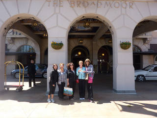 The Broadmoor hotel will host a Women's Weekend of Wellness April 14 to 16. Here, a group of women pose for a photo during a similar event last year at the hotel. Photo provided.