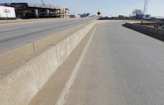 Eastbound lanes and Harvey off-ramp of the Interstate 40 Crosstown Expressway are no longer in use. Demolition of the bridge is set to begin this week. Photo by PAUL B. SOUTHERLAND, THE Oklahoman