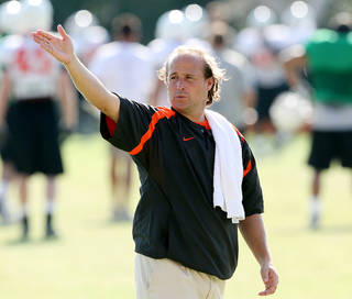 Dana Holgorsen's new offense at Oklahoma State is piling up yards and points. Photo by John Clanton, The Oklahoman