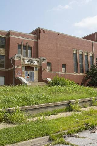 The long-abandoned Page Woodson Elementary School is on the corner of NE 6 and High. Oklahoman Archives Photo Chris James -