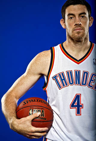 NICK COLLISON poses for a photo during the Oklahoma City Thunder media day on Monday, Sept. 27, 2010, in Oklahoma City, Okla. Photo by Chris Landsberger, The Oklahoman