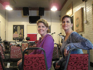 Lori Basey and Sandy Orchard, founders of No Boundaries International, pose for a picture in the ministry's Firehouse Community Center on South Robinson in Oklahoma City. Photo by Carla Hinton, The Oklahoman