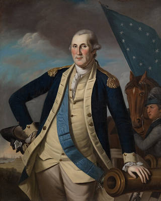 """""""George Washington,"""" an oil on canvas by Charles Willson Peale Photo by Steven Watson Photography by Steven Watson"""