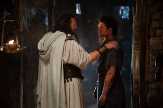 "From left, Liam Neeson stars as Zeus and Sam Worthington as Perseus in the sequel ""Wrath of the Titans."" Warner Bros. Pictures photo. Jay Maidment - Jay Maidment"