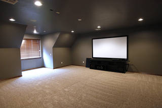 An entertainment room on the second floor of a home by Huffman Construction at 3509 SW 126 Terrace in the Rockport addition. PHOTO BY PAUL B. SOUTHERLAND, THE OKLAHOMAN PAUL B. SOUTHERLAND - The Oklahoman