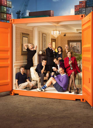 "This undated publicity photo provided by Netflix shows actress Jessica Walter, front right, and the cast of ""Arrested Development."" Even Walter, an Emmy-winning character actress, is surprised to find herself at a new professional peak, thanks to the Netflix revival of her sitcom ""Arrested Development"" as well as the continued success of the animated FX cult favorite, ""Archer."" The new season for ""Arrested Development"" began Sunday, May 26, 2013. (AP Photo/Netflix, F. Scott Schafer) ORG XMIT: CAPH999"