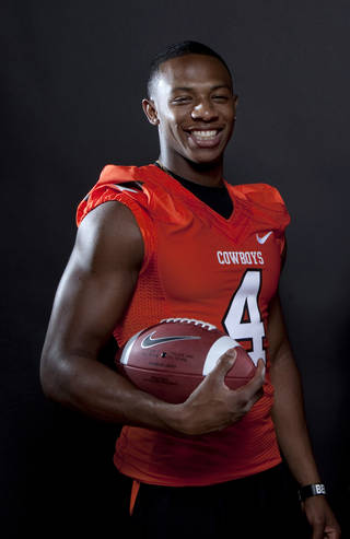Oklahoma State's Justin Gilbert is one of the fastest players in the Big 12, and the new kickoff rule is unlikely to slow him down. Photo by Sarah Phipps, The Oklahoman Archives