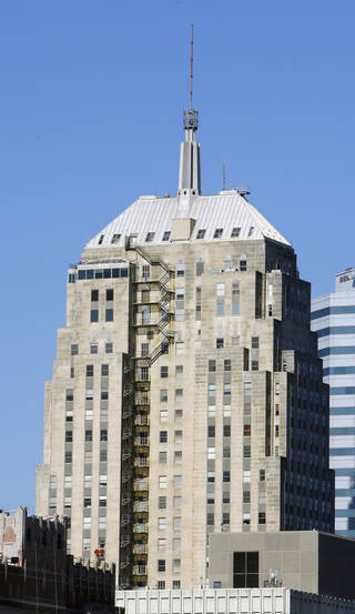 The First National Tower, 120 N Robinson, in Oklahoma City is shown. Photo By Paul B. Southerland, The Oklahoman