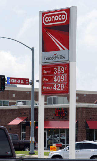 The price of gasoline approaches $4 per gallon on Wednesday, May 15, 2013 in Norman, Okla. Photo by Steve Sisney, The Oklahoman