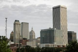 Downtown Tulsa, which requested the largest amount of aid from the economic stimulus plan. Oklahoman file art.