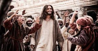"Actor Diogo Morgado portrays Jesus in a scene from the 10-part cable television series ""The Bible,"" premiering Sunday on the History Channel. Photo provided"