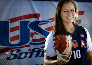 U.S. / UNITED STATES SOFTBALL TEAM: USA Softball team member Keilani Ricketts poses for a photo during media day at ASA Hall of Fame Stadium in Oklahoma City, Okla. Monday, June 25, 2012. Photo by Chris Landsberger, The Oklahoman