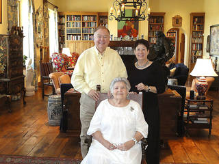 David L. Boren, Molly Shi Boren, Doris Littrell, seated. PHOTO PROVIDED