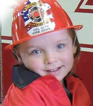 Del City firefighters are having a benefit pancake breakfast for Ryder Owen, pictured. His father is firefighter Dustin Owen. Ryder was recently diagnosed with Muscular Dystrophy. PHOTO PROVIDED PROVIDED