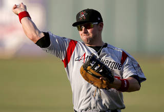Former Oklahoma State quarterback Josh Fields is playing baseball for the Triple-A Albuquerque Isotopes.Photo by Bryan Terry, The Oklahoman