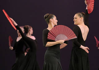 Students with the SummerWind Youth Ballet demonstrate different dance styles in a public performance Saturday at the Donald W. Reynolds Performing Arts Center at the University of Oklahoma. PHOTO BY STEVE SISNEY, THE OKLAHOMAN STEVE SISNEY