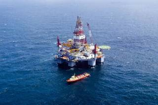 2009 file photo - The Ocean Endeavor rig pictured here is now drilling in Devon Energy Corp.'s Cascade Discovery in the Gulf of Mexico. Photo provided by Devon Energy Corp.