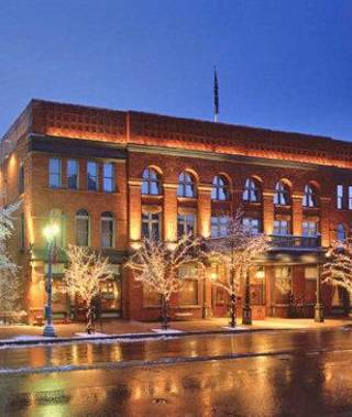 OPUBCO, PURCHASE: The Hotel Jerome is shown at night in Aspen, Colorado. The Oklahoma Publishing Company has agreed to buy the historic property for an undisclosed price.