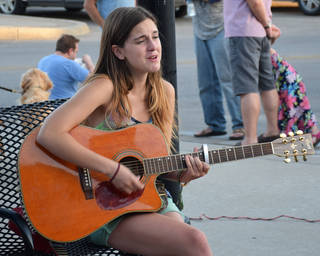 Musicians perform during LIVE on the Plaza Friday, June 13, 2014 in Oklahoma City. Photo by NewsOK contributor K. Mennem