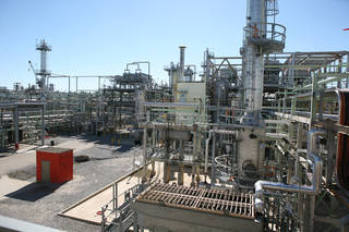 The Louisiana plant where Syntroleum, in a joint venture with Tyson Foods, converts animal fats and greases into up to 2,500 barrels per day of diesel. - PROVIDED