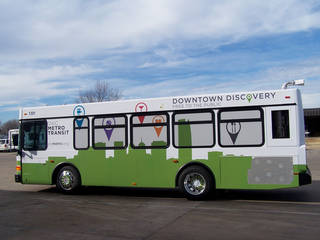 One of the new METRO Transit Discover Buses replacing the aging trolleys downtown. - Provided
