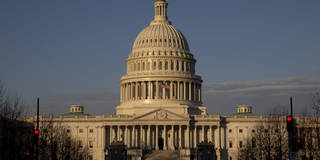The U.S. Capitol is seen in early morning light in Washington, Tuesday, Dec. 31, 2013. A two-year, $60 million renovation of the U.S. Capitol dome has begun inside the dome, with exterior scaffolding expected in the spring of 2014. (AP Photo/Jacquelyn Martin)