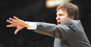 Thunder players may be learning lessons from their first trip to the playoffs, but so is coach Scott Brooks, who is leading a team in the postseason for the first time. AP PHOTO