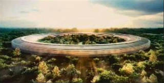 Apple Inc.'s proposed 150-acre campus built around a gigantic circular building made almost entirely of curved glass, with a heavily landscaped center, is shown. Apple's plans for a massive new campus in Silicon Valley that former CEO Steve Jobs likened to a spaceship are moving forward in Cupertino, Calif. The planning commission has approved the project, and now goes to the full city council. (AP Photo/Apple Inc.) ORG XMIT: FX101 - AP
