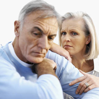 Low testosterone could cause irritability and depression. Stockbyte. Stockbyte
