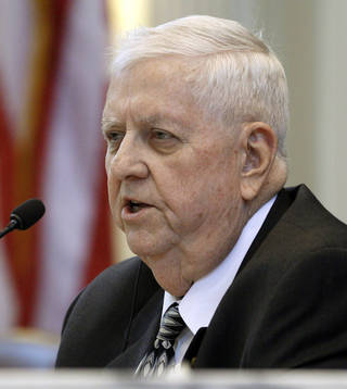 State Rep. David Dank (R-Oklahoma City) has been critical of the state legislature's pattern of approving new tax breaks without first calculating the budget impact. AP Photo