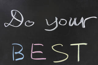 "When did ""do your best"" get replaced with ""be THE best,"" asks Erin Stewart. (Ray Woo, ©istockphoto.com/raywoo)"