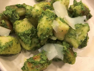 Gnocchi and ricotta from this dish are made in house at the Kitchen at Commonplace Books. It's served with pesto, parmesan and grilled toast. [Dave Cathey/The Oklahoman]
