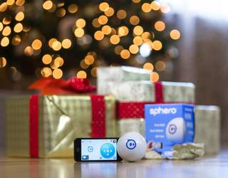 The Sphero robotic ball from Orbotix is packed with technology that lets you drive the ball using your iPhone, iPad or Android device, whether you're driving it or using it as a control itself. PHOTO PROVIDED.