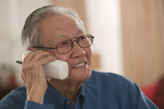 Answering inbound customer calls for big companies is one potential job for retirees. Comstock Images
