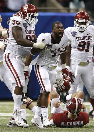 OU coaches are hoping to get more pass rushing chances for Eric Striker this season.