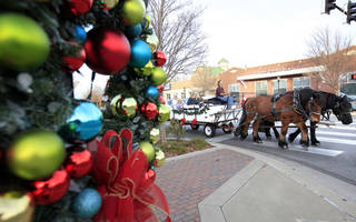 The Downtown Edmond Business Association is offering free wagon rides.