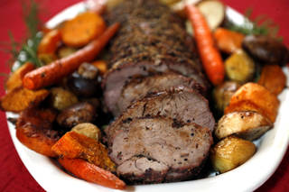 Christmas dinner is pictured in Oklahoma City, Friday,Dec. 7, 2012. Photo by Sarah Phipps, The Oklahoman