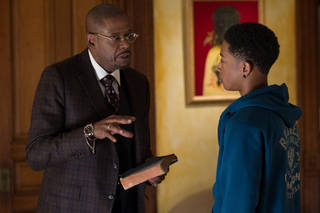 "Forest Whitaker and Jacob Latimore star in ""Black Nativity."" Phil Bray"