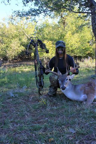 Robbie Elswick of Yukon killed this 11-point, 150-pound buck on Monday in Rogers Mills County with a crossbow. Archery deer season remains open in Oklahoma through Jan. 15. Hunters can view a list of deer killed in Oklahoma on the Wildlife Department's website at www.wildlifedepartment.com/harvestreport. Send your hunting and fishing photos to egodfrey@opubco.com Photo provided