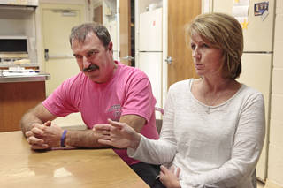 GREG WESTERMIER: Greg and Tammy Westermier, Tuesday, October 8, 2013. Ten years ago their daughter died after an accident outside a rodeo arena. Talking in part with them about their decision to participate in organ donations from their daughter.Photo by David McDaniel, The Oklahoman