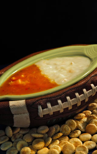 When the New England Patriots and New York Giants take the field, it will also be a battle of the chowders: New England clam chowder vs. Manhattan clam chowder. Photo by Chris Landsberger, The Oklahoman CHRIS LANDSBERGER