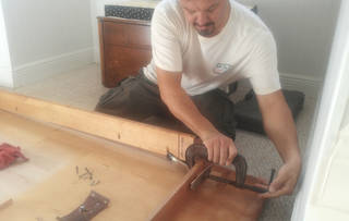 If wood cracks, repair with wood glue and clamp overnight, says home improvement expert Chris Tice. - PROVIDED