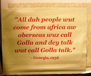 Slaves who worked in East Coast rice fields developed their own language, called Gullah. Photo courtesy of Victor Block.