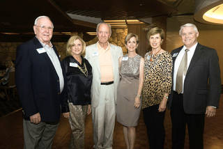 Dave Bash, Julie Dines, Dick Cain, Dawn Davis, Diane Riggert, James Stapp. Photo by David Faytinger, for The Oklahoman