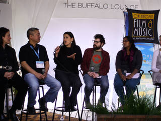 "Shannon McIntosh speaks at the interactive portion of SXSW's Buffalo Lounge in Austin, Texas. McIntosh, who most recently worked as executive producer on ""Django Unchained,"" was born in Oklahoma. The panel discussed the benefits of filming in states such as Oklahoma.Photo by Adam Kemp, The Oklahoman"
