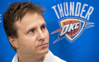 Thunder coach Scott Brooks is more than liked for his personality and respected for his consistency. Photo by Chris Landsberger, The Oklahoman