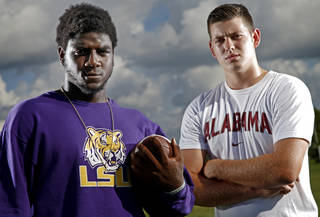 As if seven straight BCS titles weren't enough evidence of the SEC's preeminence, the top-rated high school defensive lineman and quarterback in Oklahoma are headed there. Say hello — and apparently goodbye — to Douglass' Deondre Clark (LSU) and Norman North's David Cornwell (Alabama). PHOTO BY BRYAN TERRY, The Oklahoman