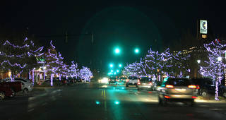 Edmond spent almost $43,000 to replace the city's Christmas lights and have the decorations installed this holiday season. PHOTO BY DAVID MCDANIEL, THE OKLAHOMAN. David McDaniel - THE OKLAHOMAN